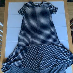 Zara High Low Gingham Dress w/ Pockets